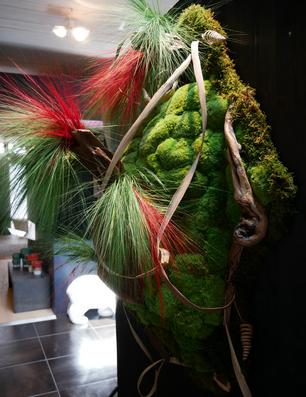 安定化植物の野菜テーブル装飾
