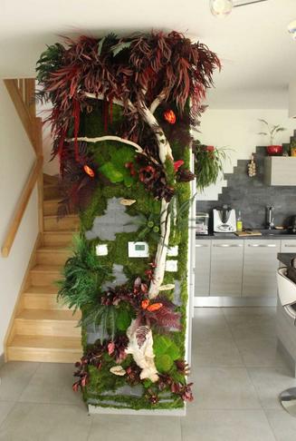 壁の装飾菜食主義の壁キッチン