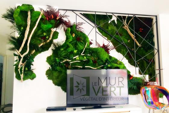 安定した植物の居間の設計そして作成のための植物の壁