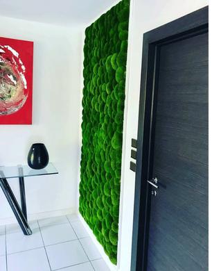メンテナンスなしのフォームボールの緑色の壁
