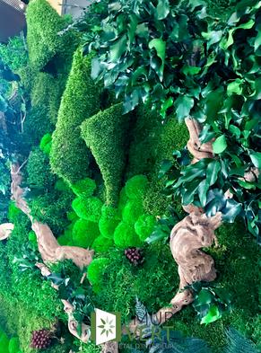 緑の壁によって3Dで安定した私達の植物の概念