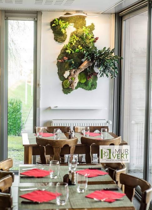 レストランの野菜装飾