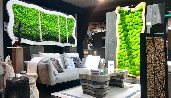 ル・ムールヴェールによる緑の装飾のEspace 55展