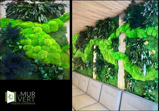 緑の壁によってモス川ボールと緑の壁