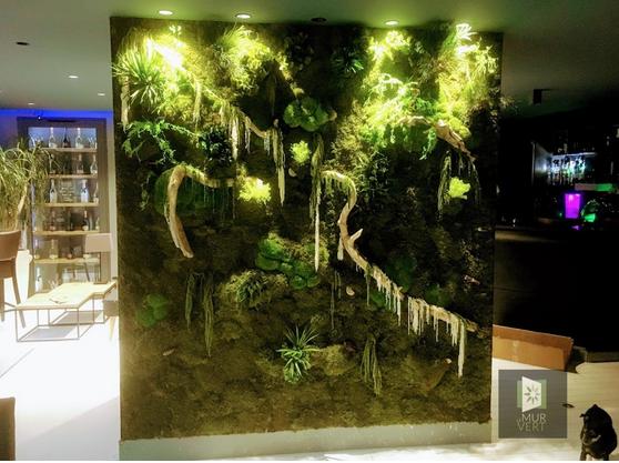 メンテナンスなしで安定した植物壁