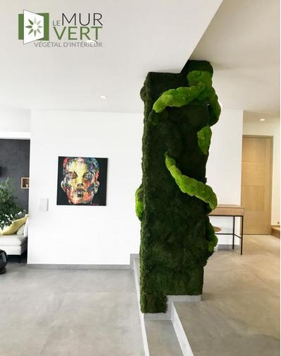 野菜コラムボールフォームの室内装飾3D