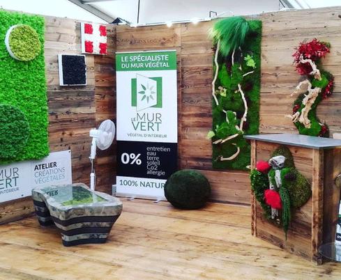 展覧会装飾植物アルプスの家緑の壁