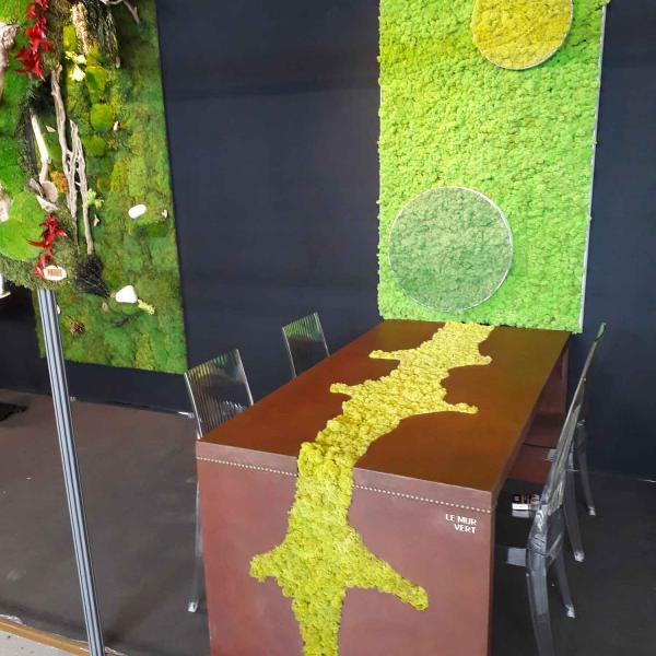 Expo SIAA table rouille en vegetal